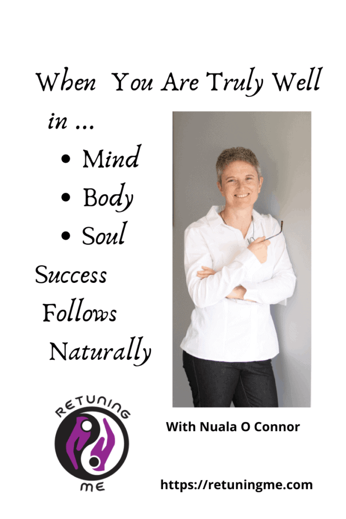 When You Are Truly Well in Mind Body Soul Success Follows Naturally